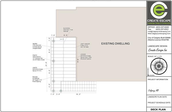 Calgary Decks-Plan-Drawing