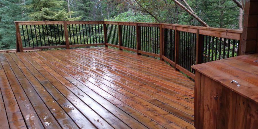Cedar Deck After Construction