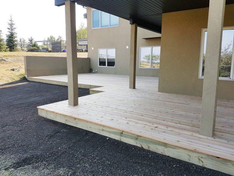 Calgary Decks - Large On Ground Cedar