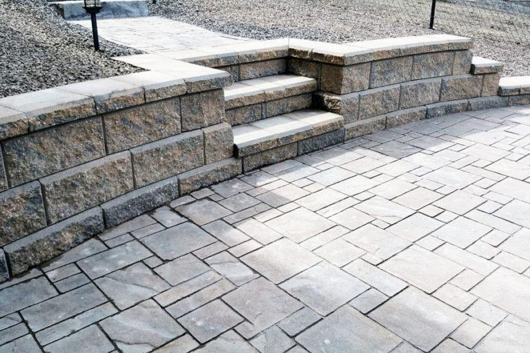 Patio with Allen Block Steps