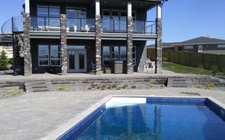 Finished Landscape Construction with pool