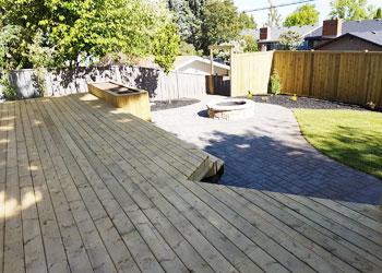 Calgary Decks with Treated Decking