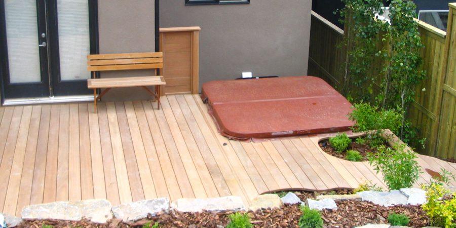 Hardwood Deck and Hot Tub
