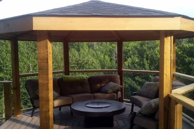 Pergola with Solid Roof