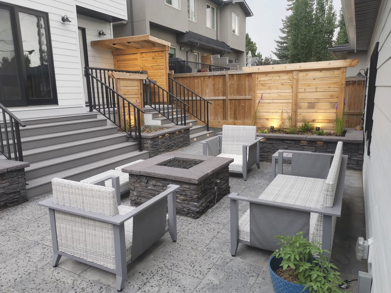 Fire Pit & Patio After